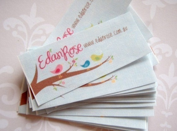 Custom sew in fabric labels - Your logo and text - 60 LABELS