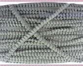 Gray Mini Pompom Bobble Ball Fringe Trim Sweater Gimp Lace Braid Embellishments 6 Yards