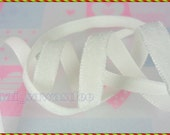 Off White Velvet Ribbon Sewing Hairband Quilting Clothing 5 Yards