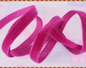 10 MM Hot Pink Velvet Ribbon Costume Boutique Fabric Gift Packaging Craft Hair Bow 5 Yards