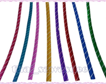 Shiny Stripe Foil Twist Wrapping Ties Wire Cello Bag Gift 100 Pieces