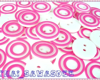 Round Donut Button Findings Clothing Craft Sew Appliques 20 Pieces