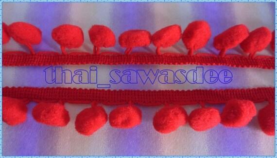 Pom Pom Embroidered Tassel Trim Sew Drapery Embellishments 18 Yards