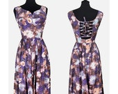 Purple And Pink Dress With A Lace-up Back Size Small