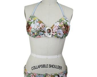 Handmade Floral Swimsuit Size Medium