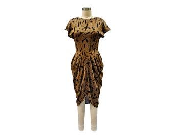 Copper and Black Metallic Mash Dress