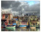 "Seattle Houseboats, Very Fine Art Photograph, available in; 5x7"", 8x10"", 11x14"", 13x19"" and note card with envelope!"