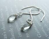 Handmade Prasiolite Sterling Silver Earrings