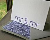 Mr and Mr Letterpress Card