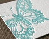 Butterfly Letterpress Enclosure Card