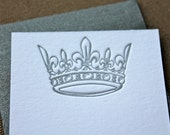 Queen Crown Enclosure Card