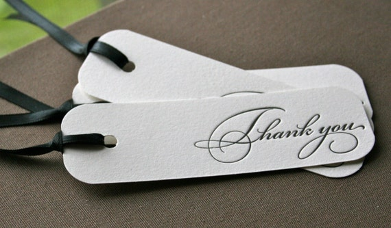Thank You Letterpress Gift Tag Set of 3