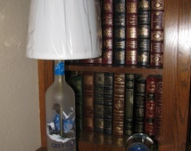 GREY GOOSE Bottle Table Lamp with Harp & Finial