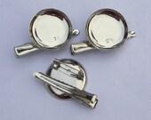 50 pcs - Good quality Silver Metal Hair Clip Brooch Pin Backings - Alligator Clip-25mm