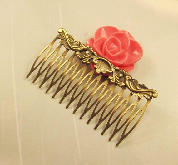 Hair combs--10Pcs Antiqued Vintage Bronze 14Teeth Barrette Hair Combs