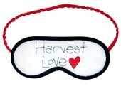 Harvest LOVE Sleep Eye Mask with Red and Black Embroidery
