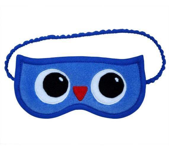Owl Sleep Mask, Animal eye mask, Bird sleepmask, Nautical sleeping eyemask, Party favor, Owl graduation birthday gift for her, Wisdom symbol