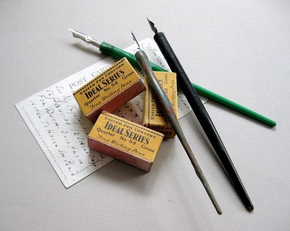 Vintage pen holders nib holders