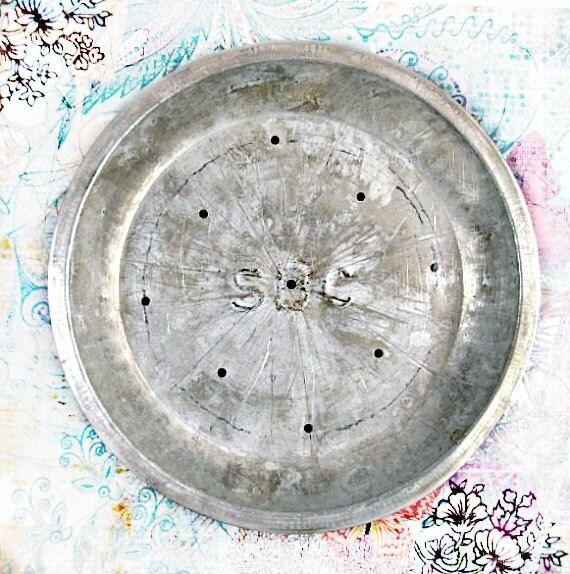 Vintage Aluminum Pie Pan, SBC Monogram