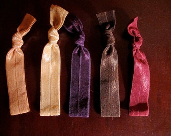 MyTys Solid Sophistication Package, 5 original hair ties that double as bracelets