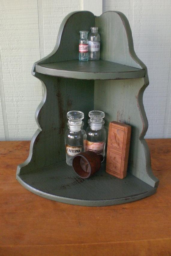 Vintage Primitive Corner Cabinet Countertop Apothecary Curio