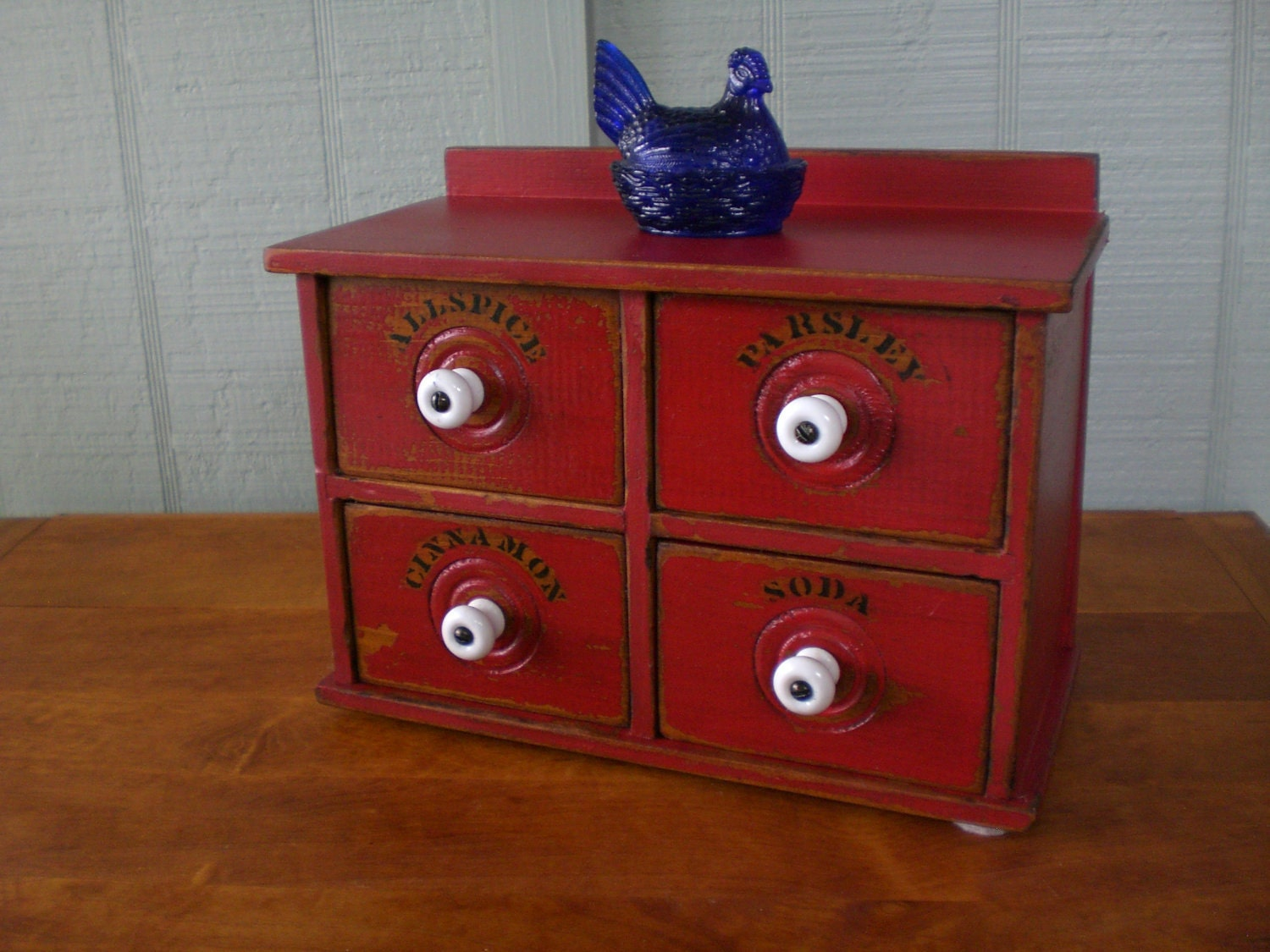 Vintage Spice Box Apothecary Tea Cabinet Chest By Redshedvintage