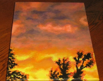carmen's sunset fine art acrylic painting