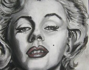 Marilyn Monroe, pastel painting