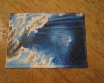 Mini Masterpiece,- ACEO art trading card - Original artwork, Sun Streams(not a print)