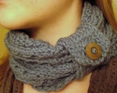 SPRING SALE Blue Wool Cowl