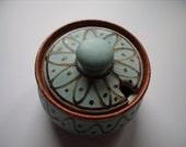 Art Pottery Mustard/Jam Pot by Broadway Pottery Cotswolds England.