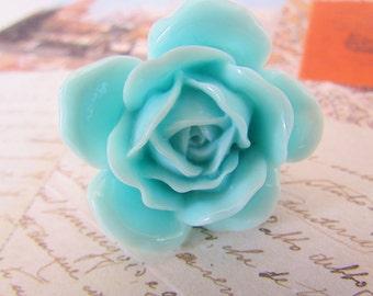 Large Light Blue Rose Ring - baby blue rose flower ...