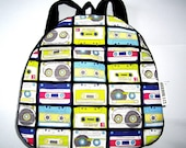 Retro cassette toddler backpack