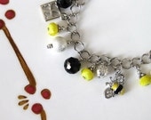 Honey Charm Bracelet with Bee and Key