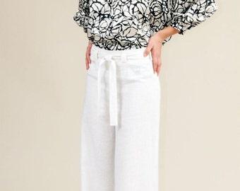 Kendra Wide Leg Linen Pant