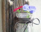 Barnwood Hanging Flower Antique Milk Bottle Vase