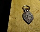 Handmade Tooled Leather Key Fob - Mahogany
