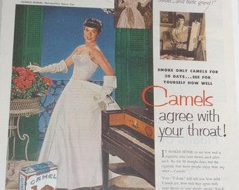 Vintage Camel Cebebrity Ad 1953 Patrice Munsel