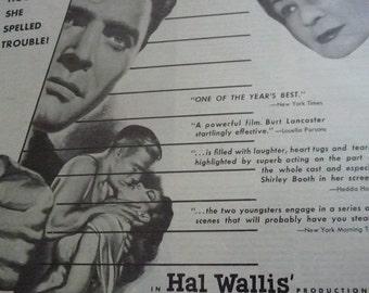 Come Back Little Sheba Movie Ad 1953