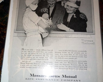 Norman Rockwell MassMutual Ad Campaign New Born Nursery
