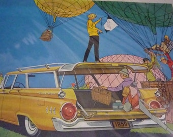 1959 Ford Ad Hot Air Balloons