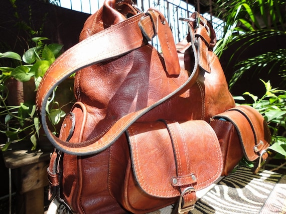 Genuine Natural Duna Leather Large Bag for Woman