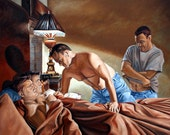 Early Riser by Kenney Mencher oil on linen canvas 48x60x1.5