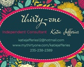 Premade Thirty-one Business Card Design - Bright Indie Floral