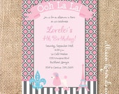 Parisian Chic Printable Invitation