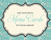 Matching Menu Placecards for Any Item in My Shop