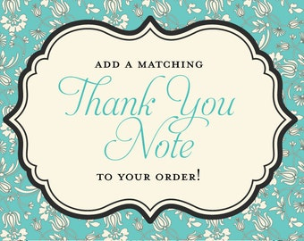 Matching Thank You Note for any Invitation in My Shop