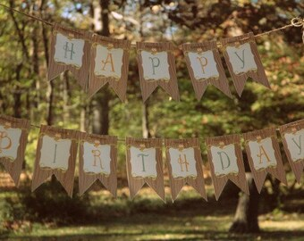 Woodland Owl Printable Party Banner - As Seen on HWTM
