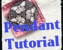 Glass tile pendant tutorial
