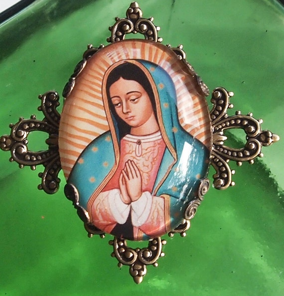 Our Lady of Guadalupe brooch
